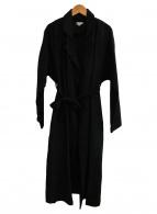 OZMA(オズマ)の古着「リネントレンチコート」|ブラック