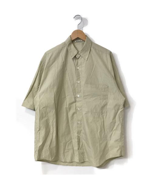 AURALEE(オーラリー)AURALEE (オーラリー) WASHED FINX TWILL HALF SLEEVED ベージュ サイズ:4 A9SS02TNの古着・服飾アイテム