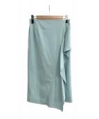 ()の古着「ハイツイストガスポンチスカート」 ブルー