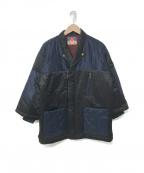 blackmeans(ブラックミーンズ)の古着「キルティング切替ジャケット」|ブラック