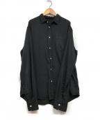 Frank&Eileen(フランクアンドアイリーン)の古着「LUKE BKD ルーク オーバーダイ デニムシャツ」 ブラック