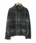 ()の古着「ウールチェックジャケット」|グレー