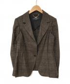 Salvatore Ferragamo()の古着「チェックテーラードジャケット」|ブラウン