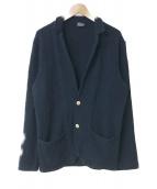 ()の古着「コットンニットジャケット」|ネイビー