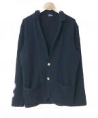 Drumohr(ドルモア)の古着「コットンニットジャケット」|ネイビー