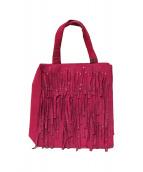 CHANEL(シャネル)の古着「フリンジミニハンドバッグ」|ピンク