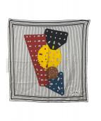 LOEWE(ロエベ)の古着「メカノ柄ストライプスカーフ」|ホワイト×ブラック