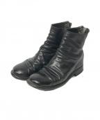 GUIDI(グイディ)の古着「バックジップブーツ」|ブラック
