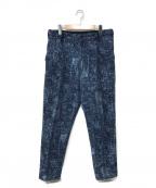 Porter Classic()の古着「PEELED CLOTH CROPPED PANTS」 ネイビー