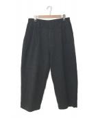 Porter Classic(ポータークラシック)の古着「19A/W WOOL & GAUZE WIDE PANTS」|グレー