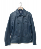 Porter Classic(ポータークラシック)の古着「SHEEP LEATHER DOUBLE JACKET」|ブルー