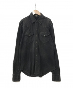 RRL(ダブルアールエル)の古着「ウエスタンシャツ」|ブラック