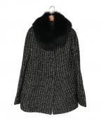 MaxMara(マックスマーラ)の古着「ファー付コート」 ブラック