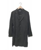 LOST CONTROL(ロストコントロール)の古着「20S/S SAFILIN LINEN COAT」|ブラック