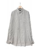 ()の古着「18S/S Silk stripe long shirts」|グレー