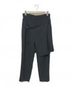 GROUND Y()の古着「18S/S スカート付きスリムパンツ」|ブラック