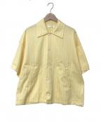 NEON SIGN()の古着「ハーフスリーブシャツジャケット」|イエロー