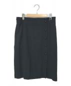 CHANEL(シャネル)の古着「シルク混スカート」|ブラック