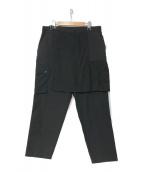 ()の古着「21S/S SKIRT CARGO PANTS」 ブラック