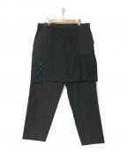 WHITE MOUNTAINEERING(ホワイトマウンテ二アニング)の古着「21S/S SKIRT CARGO PANTS」|ブラック