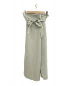()の古着「20S/S オーバータックフロントスリットスカート」 ミント