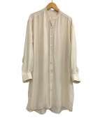 Noble(ノーブル)の古着「20S/S バンドカラーシャツ」|ベージュ