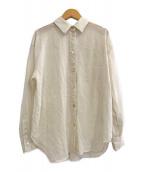 Noble(ノーブル)の古着「20S/S シースルーレギュラーシャツ」|アイボリー
