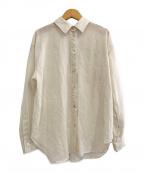 Noble()の古着「20S/S シースルーレギュラーシャツ」|アイボリー