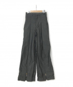 TOGA ARCHIVES(トーガアーカイブス)の古着「20S/S WOOL WIDE LEG TROUSERS」|グレー