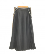 TELA(テラ)の古着「ドッキングスカート」|ベージュ