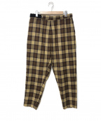 Graphpaper()の古着「19A/W WOOL CHECK COOK PANTS」|ベージュ