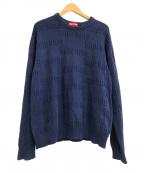 SUPREME()の古着「Raised Logo Sweater」|ネイビー