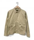 Trophy Clothing(トロフィークロージング)の古着「ジップアップジャケット」 ベージュ