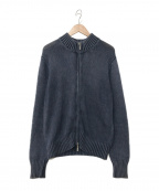 Cruciani(クルチアーニ)の古着「ニットジャケット」|ネイビー