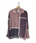 MANDO(マンドー)の古着「テンセルキュプラパッチワークシャツ」|マルチカラー