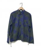 WELLDER(ウェルダー)の古着「19A/W Drawstring Shirt」 グリーン