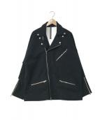 STRUM(ストラム)の古着「コットンウールダブルライダースジャケット」|ブラック