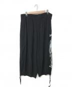B Yohji Yamamoto(ビーヨウジヤマモト)の古着「19S/S 後ろ姿プリントバルーンパンツ」 ブラック