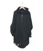 LIMI feu(リミフゥ)の古着「Soft Cotton Fleece Zip Up Hood」|ブラック