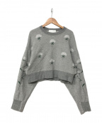 Mame Kurogouchi(マメ クロゴウチ)の古着「16A/W 刺繍スウェット」 グレー