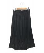 CELINE(セリーヌ)の古着「プリーツガウチョパンツ」|ブラック