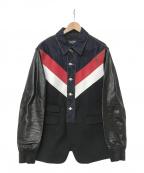 DSQUARED2(ディースクエアード)の古着「ドッキングジャケット」|ブラック