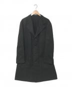 YohjiYamamoto pour homme()の古着「スプリングチェスターコート」|ブラック