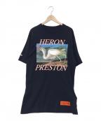 HERON PRESTON()の古着「Blue jersey print t-shirt」|ネイビー
