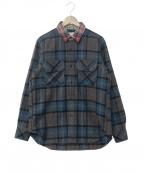 GANRYU(ガンリュウ)の古着「襟切替チェックシャツ」 マルチカラー