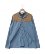 SUNSEA(サンシー)の古着「Vincents Shirt 2」 スカイブルー