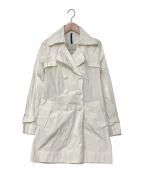 MONCLER(モンクレール)の古着「トレンチコート」|ホワイト