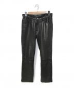 agnes b homme(アニエスベーオム)の古着「レザーパンツ」 ブラック