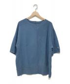 NIGEL CABOURN(ナイジェルケーボン)の古着「アーミークルージャージーハーフスリーブカットソー」|ブルー