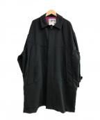 TIGHTBOOTH PRODUCTION(タイトブースプロダクション)の古着「GINGHAM BIG COAT」|ブラック